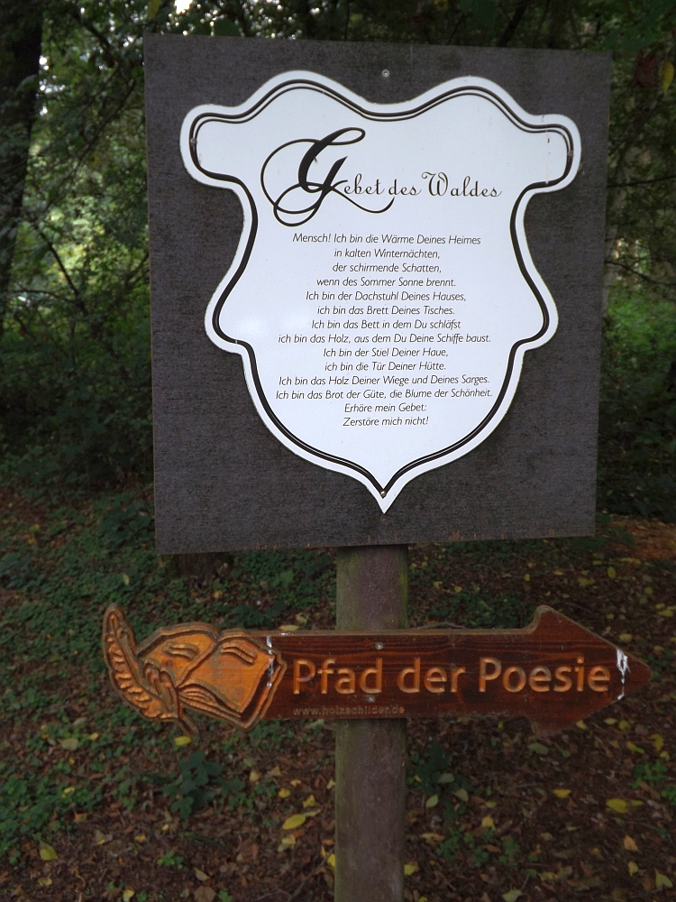 Pfad der Poesie (Wildpark Höllohe)