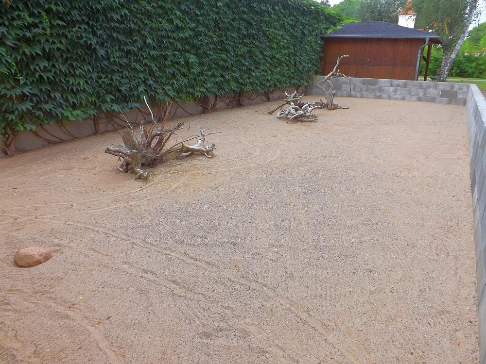 Außenanlage für Spornschildkröten (Tiergarten Bernburg)