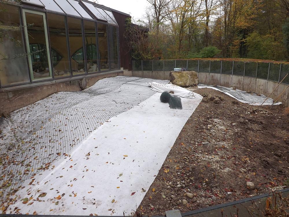 Baustelle Fennek-Außenanlage (Zoo Augsburg)