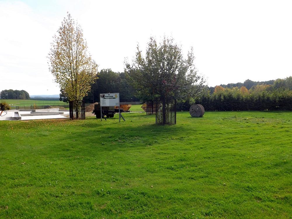 Baustelle Wisentanlage (Tierpark Hirschfeld)