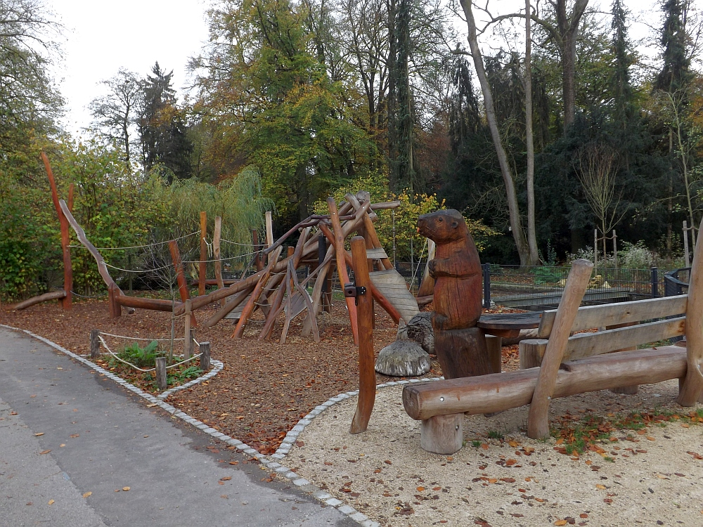 Biberspielplatz (Zoo Augsburg)