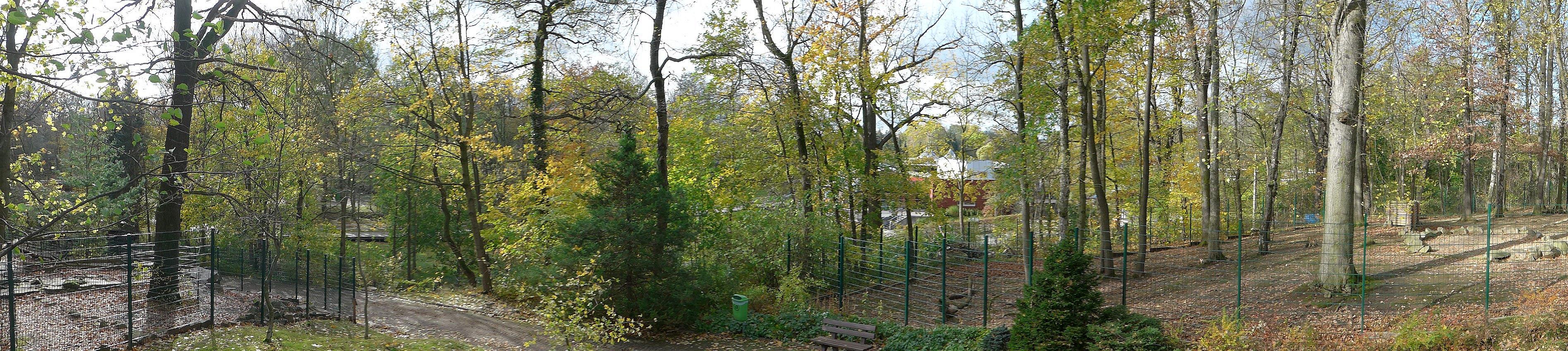 Blick von Aussichtsplattform bei den Thuren (Tierpark Chemnitz)