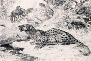 Hoplophoneus primaevus and Merycoidodon (Robert Bruce Horsfall)