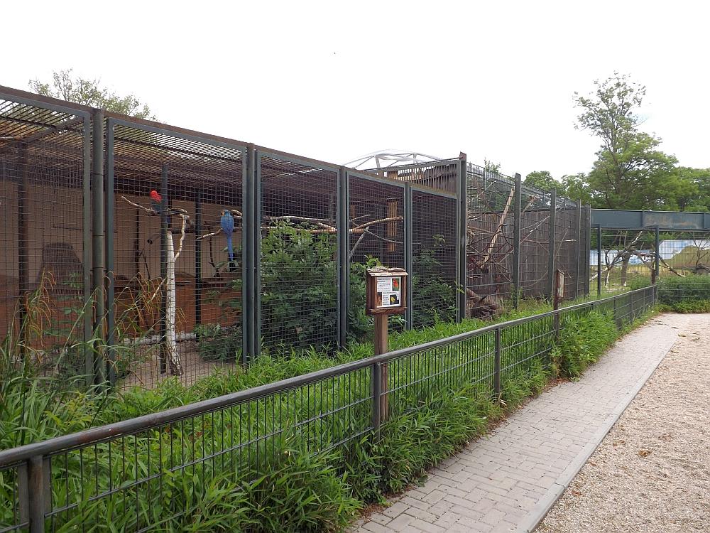 Papageienvolieren (Tiergarten Delitzsch)